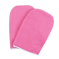 1Pair Paraffin Wax Protection Gloves SPA Hand Warmer Heater Hand Care Cover Cloth Spa Cotton Pink Hand Protection Gloves thumbnail