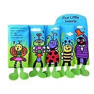Đồ chơi - Cuốn sách vải sơ sinh 5 chú côn trùng thumbnail