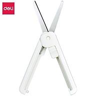 Kéo mini tiện lợi 105mm Deli - 5 màu Đen Xanh Hồng Trắng - Dành cho văn phòng, học sinh, sắc bén - 6072 thumbnail