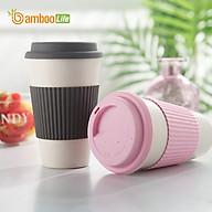 Ly uống nước Cốc uống nước từ sợi tre thiên nhiên Bamboo Life BBL018 có nắp đậy hàng chính hãng thumbnail
