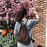 Túi dây rút vải nỉ nhám da lộn, phù hợp cho cả nam lẫn nữ - unisex, có ngăn bên trong, thiết kế chống thấm nước (Nhiều màu để chọn) thumbnail