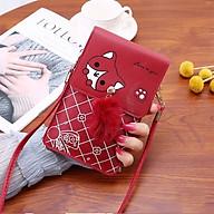 Túi đeo chéo nữ đựng điện thoại tiện dụng, móc khóa bông dễ thương TK0072 thumbnail