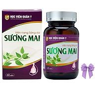 Thực phẩm chức năng Viên uống trắng da thảo dược Sương Mai Học viện quân y Việt nam (60 viên hộp) và nơ thumbnail