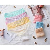 Combo 5 quần lót nữ cao cấp ren hoa quyến rũ mềm mại thoải mái. thumbnail