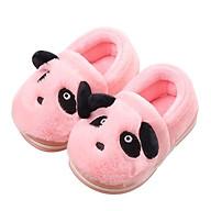 GIày bốt cổ thấp hình gấu panda hồng xinh xắn, giày bé gái 1-3 tuổi thumbnail