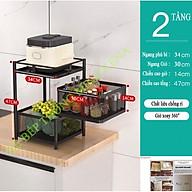 Kệ bếp đựng rau củ quả vuông xoay 360 tiện ích đa năng KENA KN 158 Sơn tĩnh điện chống gỉ cao cấp thumbnail