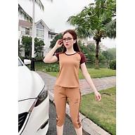 Bộ đồ lững thời trang nữ ngắn mặc ở nhà thời trang Hàn Quốc dn21073003 thumbnail