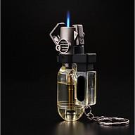 Bật lửa khò 1 tia, lửa mạnh chống gió tốt, có dây đeo chìa khóa thumbnail