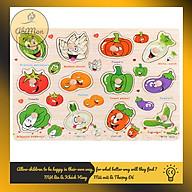 Bảng Núm Gỗ Ghép Hình Cho Bé Montessori cao cấp Đồ chơi Gỗ - Giáo dục - An toàn - Thông minh thumbnail