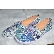 Giày lười hoa xanh mới thumbnail