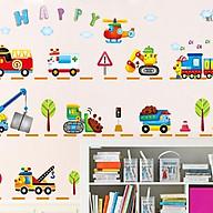 Decal dán tường ô tô, máy xúc, phương tiện giao thông thumbnail