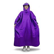 Áo mưa bít người vải dù tổ ong cao cấp freesize - Tím thumbnail