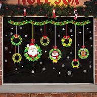 Decal Dán Tường Trang Trí Giáng Sinh Mẫu Mới - Tặng 1 tấm dán kính chúc mừng năm mới thumbnail