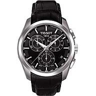 TissotT035.617.16.051.00 Men s Couturier Black Leather Swiss Quartz Watch with Black Dial thumbnail