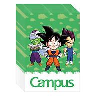Lốc 10 Cuốn Vở 4 Ô Ly (2,5X2,5Mm) Campus Dragon Ball Z - Cool NB-BDBC80 - ĐL 100 (80 Trang) - Giao Mẫu Ngẫu Nhiên thumbnail