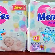 Combo 2 gói bỉm tã Merries Newborn NB90+6 thumbnail