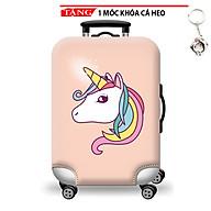 Trùm vali áo vali size S-M chống nước in hình 3D thun giãn 4 chiều cao cấp HYTR33 Tặng móc khóa cá heo thumbnail