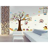 decal dán tường cho bé -cây khỉ ngộ nghĩnh xl8192 thumbnail
