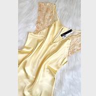 Đầm ngủ phi lụa Wannabe DNS06 tay cánh tiên phối ren hoa nhẹ nhàng thumbnail