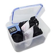 Combo hộp chống ẩm mini cao cấp, ẩm kế điện tử, 200gram hạt hút ẩm xanh, mút xốp, khăn lau lens cho máy ảnh, máy quay phim - dung tích 3,6 lít thumbnail