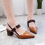 Giày Sandal Cao Gót Nữ Đế Vuông Quai Ngang 5P- GN27 thumbnail