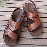 Giày Sandal nam da bò thật dép quai hậu nam da thật - DQH.235 thumbnail