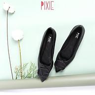 Giày Búp Bê Mũi Nhọn Chần Chỉ Gắn Khoá G Pixie X608 thumbnail