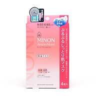 Minon Moist Essential Mask 4 Sheets Japan thumbnail