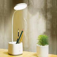 Đèn bàn học LED chống cận có hộc đựng bút - Hiệu Con én - 3 chế độ sáng, nút bấm cảm ứng siêu nhạy thumbnail