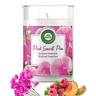 Ly nến thơm tinh dầu Air Wick Pink Sweet Pea 310g XXL QT06524 - hoa đậu Hà Lan thumbnail