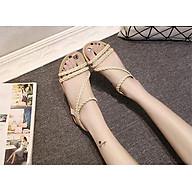 Dép sandal nữ mới dệt đai mẫu 2019 TRT-SDNU-12 thumbnail