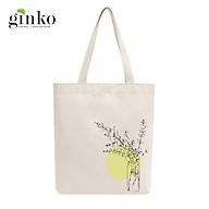 Túi Tote Vải Mộc GINKO Dây Kéo In Hình Minimalism Art M38 thumbnail