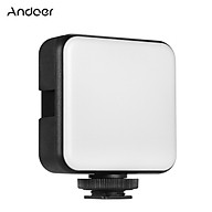 Andoer W36 Mini Video LED Light 5600K Dimmable 4W Type-C Built-In Rechargeable Battery with 3 Cold Shoe Mounts thumbnail