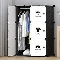 Tủ nhựa ghép đa năng 6 ô đựng quần áo (110 74 47cm) thumbnail