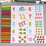 Hộp Thẻ Học Flashcard Cho Bé Học Đếm Tiếng Anh Và Học Toán -THEHUOUCAOCO thumbnail