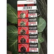 Pin CR2025 Maxell Lithium 3V vỉ 5 viên thumbnail