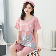 Bộ đồ bầu và sau sinh cotton - hồng AZ20 thumbnail