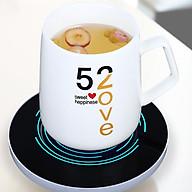 Đế hâm nóng cốc điện tử kèm ly uống cà phê cao cấp thumbnail
