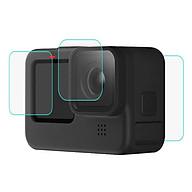 2 Pcs set Tempered Film Set Glass Black Lens + Lcd Screen Tempered Film For Gopro Hero9 thumbnail