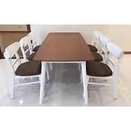 Bộ bàn ăn 6 ghế mango xuất khẩu ngang 1m6 thumbnail