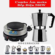 Combo Bếp Điện Min 500W Và Ấm mokapot thumbnail