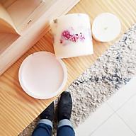 Bộ 3 sản phẩm đế đỡ nến + nến thơm sáp đậu nành, hương hoa hồng + tealight trang trí hoa cúc bách nhật thumbnail