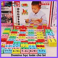 Domino toán học toán + que tính bằng gỗ giúp bé yêu học toán nhanh hơn thumbnail
