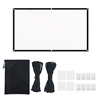 120-inch Portable HD Projector Screen 16 9 Projection Screen Foldable Durable White Wall Screen with Carrying Bag Rope thumbnail