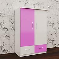 Tủ nhựa đài loan 2 cánh 2 ngăn kéo màu hồng trắng - rộng 85cm, cao 1m15, sâu 45cm thumbnail