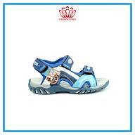 Dép Quai Hậu Cho Bé Trai Đi Học Thời Trang Cao Cấp Crown Space UK Active Sandal CRUK523 Da Nhẹ Êm Thoáng Khí Thấm Hút Mồ Hôi Cho Trẻ Size từ 26-35 2-14 Tuổi thumbnail