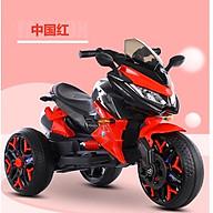 Xe máy điện moto 3 bánh trẻ em BNM 5188 đồ chơi đạp ga 2 động cơ (Đỏ-Trắng-Xanh-Vàng) thumbnail
