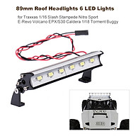 89mm Roof Headlights RC Off-Road Dome 6 LED Lights for Traxxas 1 16 Slash Stampede Nitro Nitro Sport E-Revo Redcat thumbnail