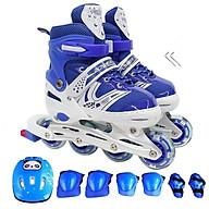 Giày trượt Patin thể thao tăng cường vận động, giải trí cho trẻ em HM089 bánh xe phát sáng tặng kèm bộ đồ bảo hộ 7 món thumbnail