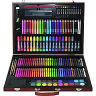 Bộ màu vẽ hộp gỗ cao cấp MS-173W, Màu vẽ cho bé, Bộ màu vẽ nhiều chi tiết, Quà tặng bé yêu thumbnail